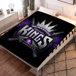 Sacramento Kings Fleece Blanket Throw Bed Set