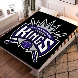 Sacramento Kings Fleece Blanket Throw Quilt