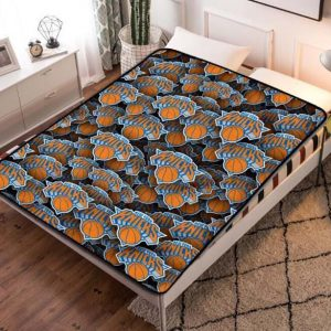 New York Knicks NBA Team Fleece Blanket Throw Quilt