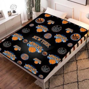 New York Knicks Basketball Team Fleece Blanket Throw Bed Set