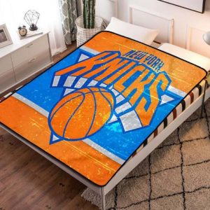 New York Knicks NBA Basketball Team Fleece Blanket Throw Quilt