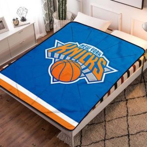 New York Knicks NBA Basketball Team Fleece Blanket Throw Bed Set