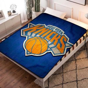 New York Knicks Team Basketball Quilt Blanket Throw Fleece