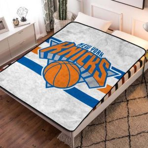 New York Knicks Basketball Fleece Blanket Throw Quilt