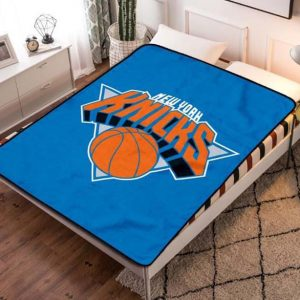 New York Knicks NBA Team Fleece Blanket Throw Bed Set