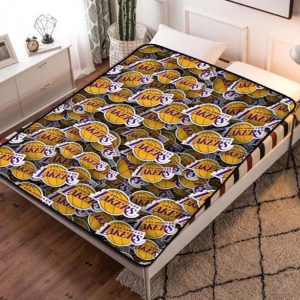 Los Angeles Lakers NBA Basketball Team Fleece Blanket Throw Quilt