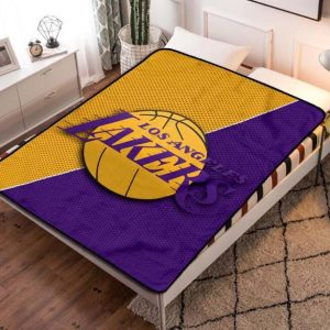 Los Angeles Lakers Basketball Fleece Blanket Quilt