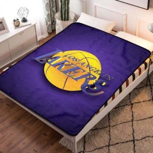 Los Angeles Lakers Basketball Fleece Blanket Throw Quilt