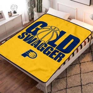 Indiana Pacers Basketball Quilt Blanket Throw Fleece