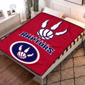 Toronto Raptors NBA Basketball Team Fleece Blanket Throw Bed Set
