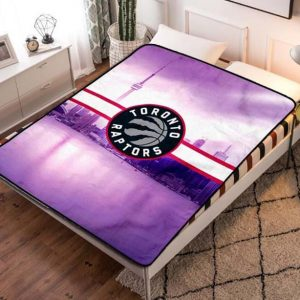 Toronto Raptors NBA Team Fleece Blanket Throw Quilt