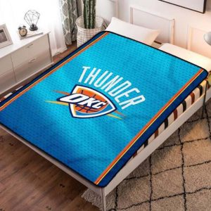 Oklahoma City Thunder Fleece Blanket Throw Bed Set