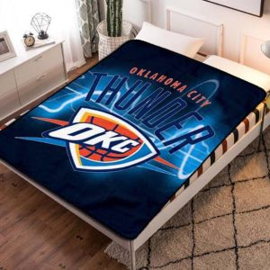 Chillder Oklahoma City Thunder Blanket. Oklahoma City Thunder Fleece Blanket Throw Bed Set Quilt Bedroom Decoration.