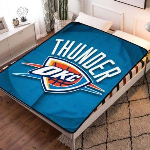Oklahoma City Thunder NBA Basketball Team Fleece Blanket Throw Bed Set