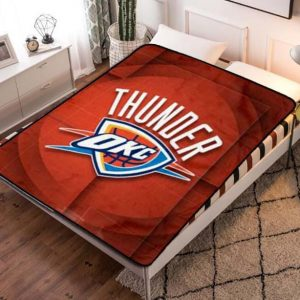Oklahoma City Thunder Team Basketball Quilt Blanket Throw Fleece