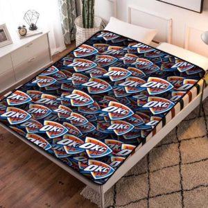 Oklahoma City Thunder Quilt Blanket Fleece Bed Set