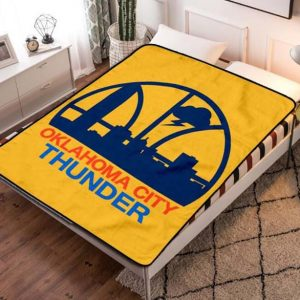 Oklahoma City Thunder Fleece Blanket Quilt