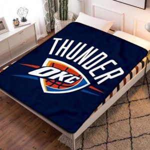 Oklahoma City Thunder Basketball Fleece Blanket Quilt
