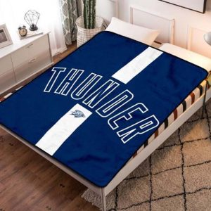 Oklahoma City Thunder NBA Basketball Team Fleece Blanket Quilt