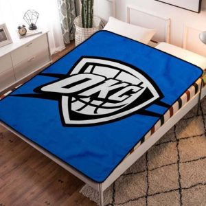 Oklahoma City Thunder Fleece Blanket Throw Quilt