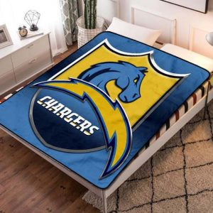 Chillder Los Angeles Chargers Blanket. Los Angeles Chargers Fleece Blanket Throw Bed Set Quilt Bedroom Decoration.