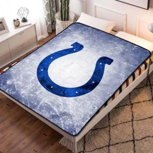 Indianapolis Colts Football Team Fleece Blanket Throw Bed Set