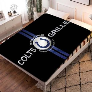 Indianapolis Colts NFL Football Team Fleece Blanket Throw Bed Set