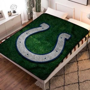 Indianapolis Colts Football Team Quilt Blanket Fleece Throw