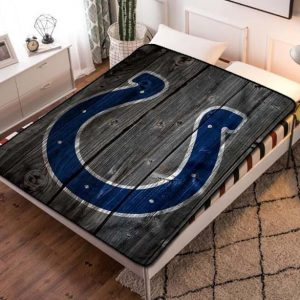 Indianapolis Colts Football Fleece Blanket Throw Quilt