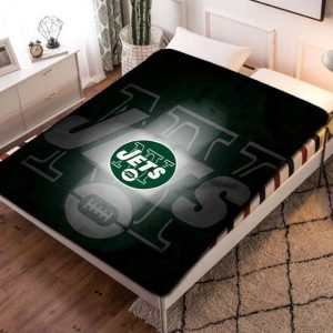 New York Jets Football Fleece Blanket Throw Bed Set