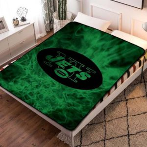 New York Jets NFL Football Team Fleece Blanket Throw Bed Set