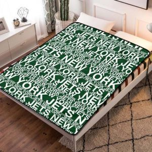 New York Jets Fleece Blanket Throw Quilt