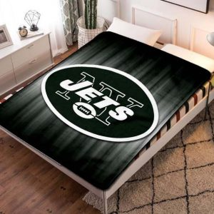 New York Jets Team Quilt Blanket Fleece Bed Set