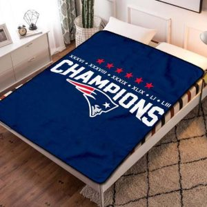 New England Patriots Team Fleece Blanket Throw Bed Set