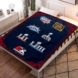 New England Patriots NFL Football Team Fleece Blanket Throw Bed Set
