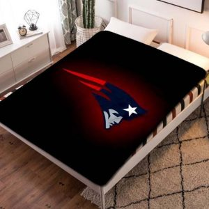 New England Patriots Football Fleece Blanket Quilt