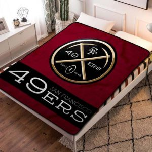 San Francisco 49ers Quilt Blanket Fleece Bed Set