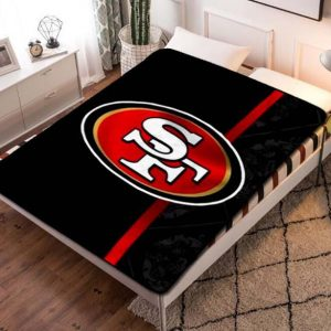 San Francisco 49ers NFL Football Team Fleece Blanket Throw Quilt