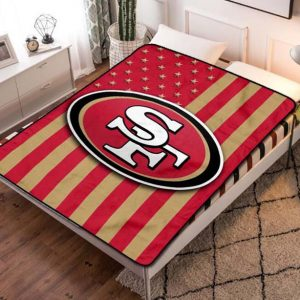 San Francisco 49ers NFL Football Team Quilt Blanket Throw Fleece