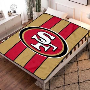 San Francisco 49ers NFL Football Team Fleece Blanket Quilt