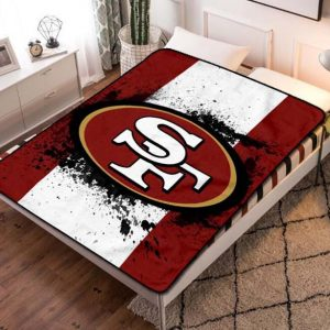 San Francisco 49ers NFL Team Fleece Blanket Quilt