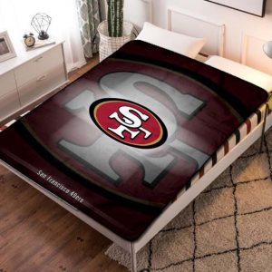 San Francisco 49ers NFL Quilt Blanket Throw Fleece