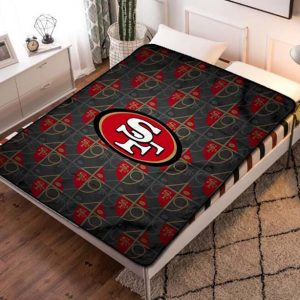 San Francisco 49ers Fleece Blanket Throw Quilt