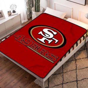 San Francisco 49ers Team Quilt Blanket Fleece Bed Set