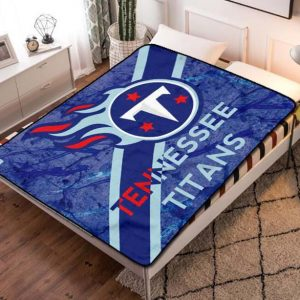 Tennessee Titans Football Team Fleece Blanket Throw Bed Set
