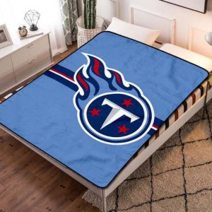Tennessee Titans Football Fleece Blanket Throw Bed Set