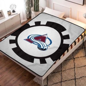 Colorado Avalanche NHL Team Fleece Blanket Throw Quilt