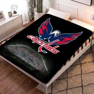 Washington Capitals NHL Ice Hockey Team Quilt Blanket Throw Fleece