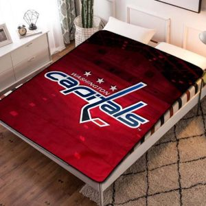 Washington Capitals Hockey Fleece Blanket Throw Quilt