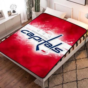 Washington Capitals Team Fleece Blanket Throw Quilt